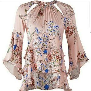 Marissa Webb pink silk blouse